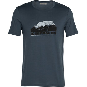 Icebreaker Tech Lite SS Crew Shirt Icebreaker Mountain Men, azul